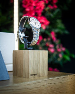 Shinola Watch in front of Living Wall